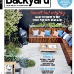 magazine cover with back garden