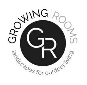 Logo for Growing Rooms landscapes for outdoor living