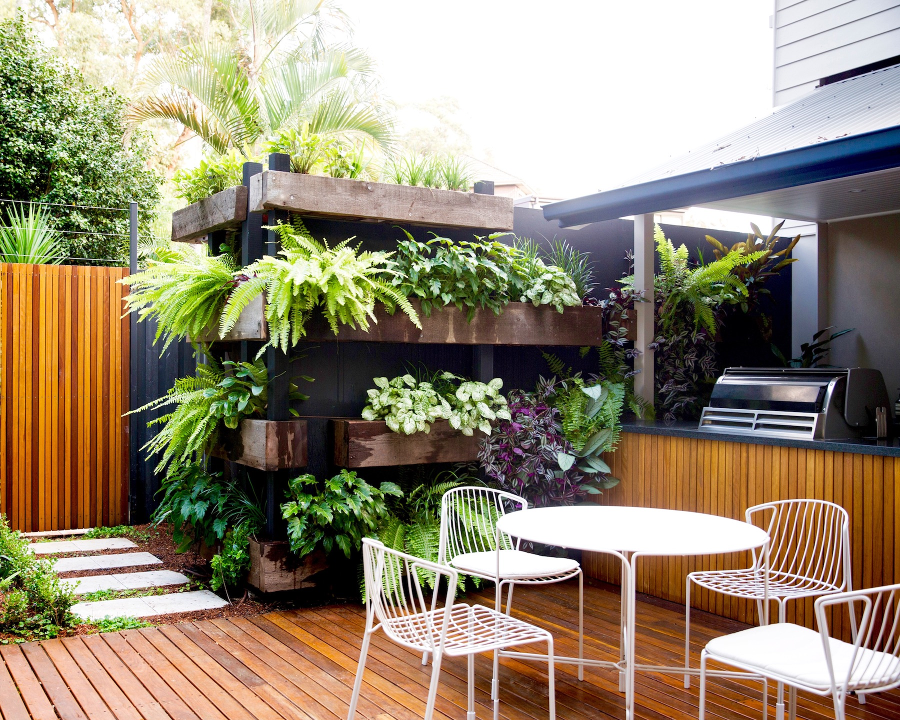 Bondi multiple level garden with entertainment area