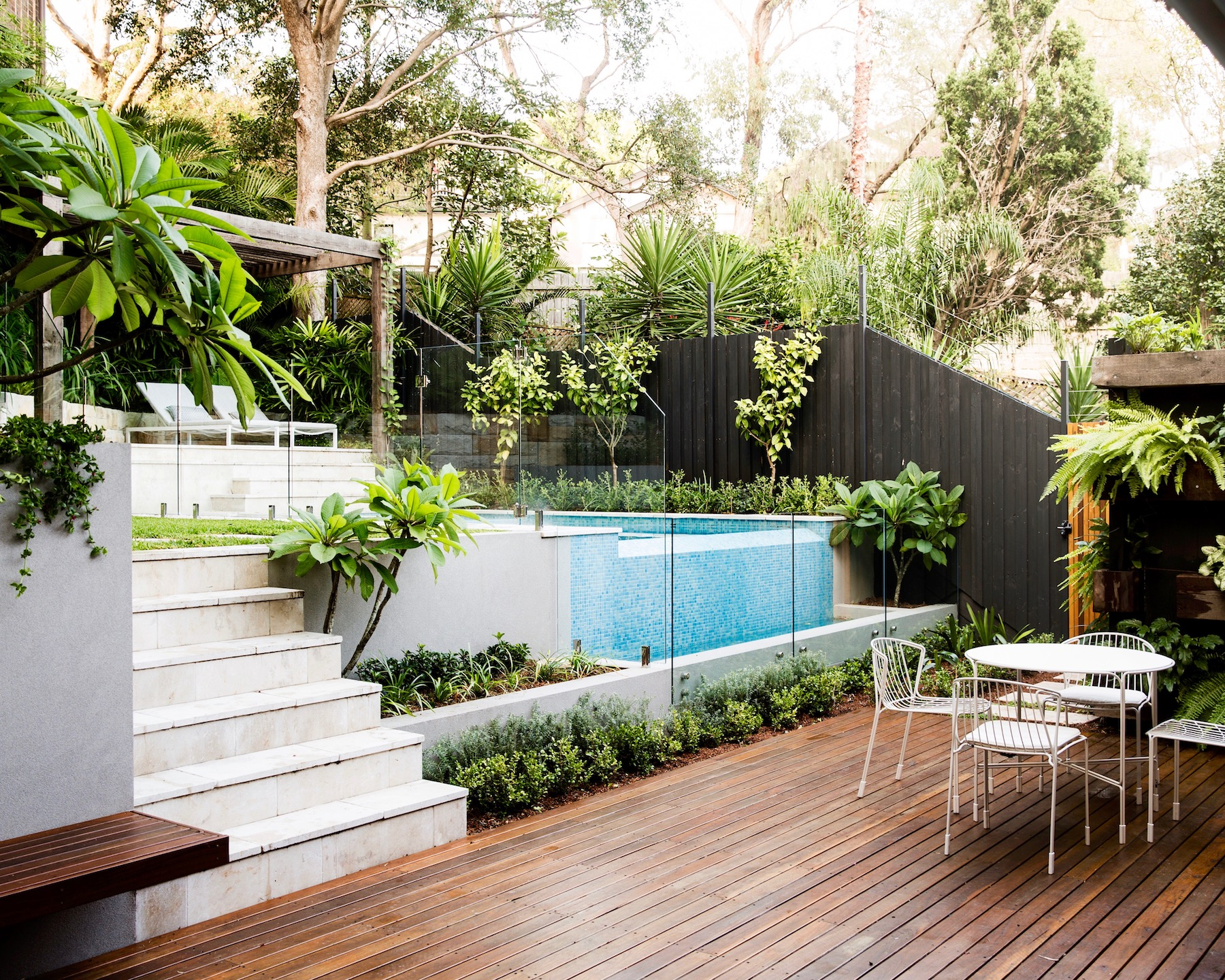 Bondi multiple level garden with pool